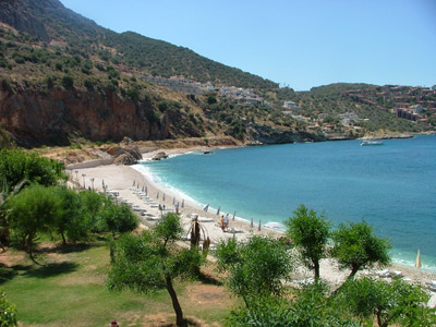 Kaputas Beach is ideal for swimmers.