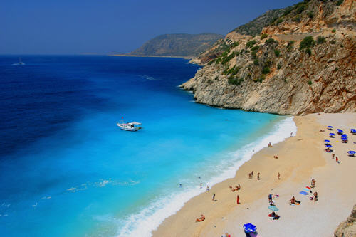This beautiful beach is just minutes from Kalkan.