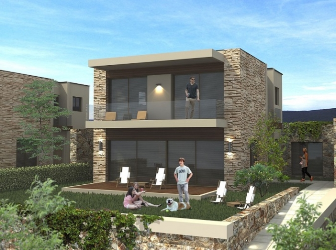 3 Bedroom central Bodrum apartments for sale