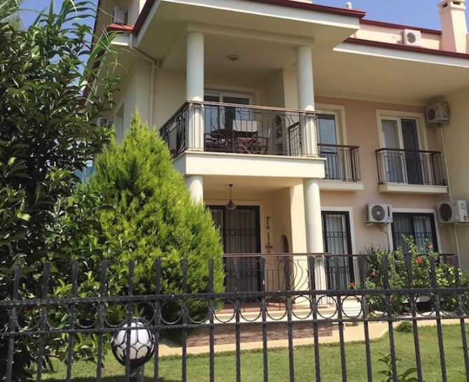 Duplex three bedroom apartment close to sea in Calis