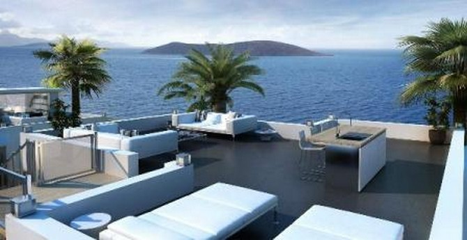 Modern Gumusluk Apartment Sea View 2 Bedrooms
