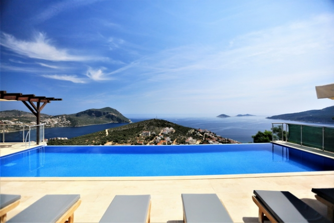 Fully Furnished Triplex Villa in Peaceful Kalkan