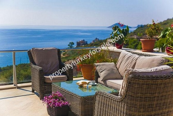 Kalkan Villa with Excellent Sea View