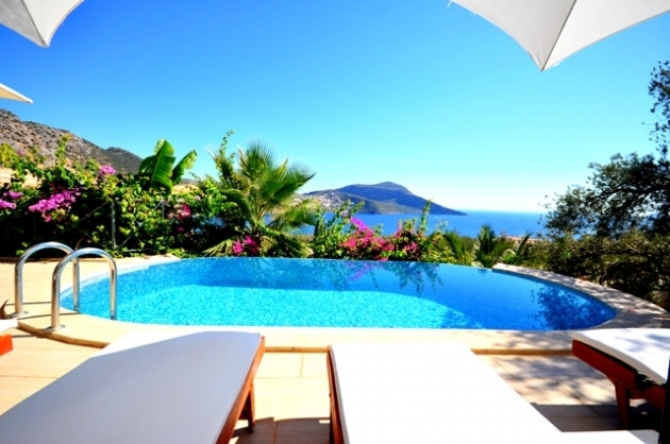 Seafront 4 Bedroom Kalkan Villa with Infinity Pool