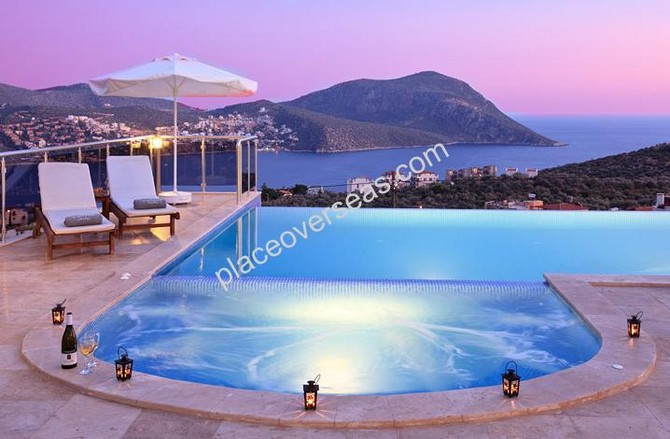 Exclusive Kalkan Villa Unobstructed Seaview 5 Bedrooms