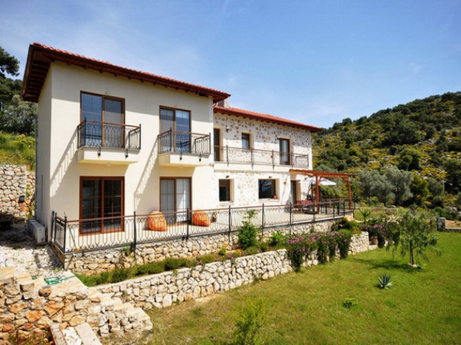 Unique Countryside Mansion in Kalkan With Huge Courtyard