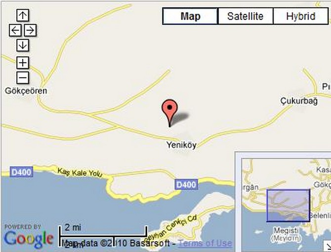 Yenikoy land for sale 10 min by car to Kas town
