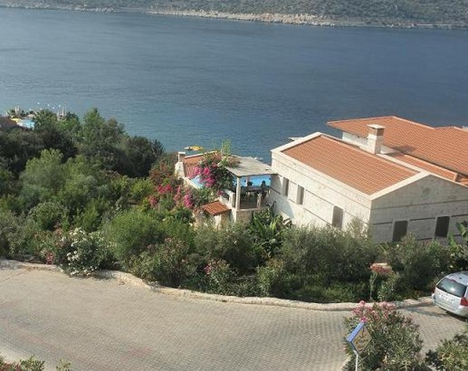 The villa is secluded and private
