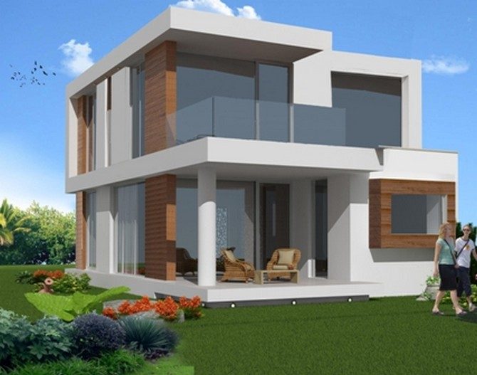 Off plan konacik villa modern design 3 bedrooms for Villa moderne plan
