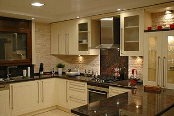 Open Plan Kitchen with all white goods