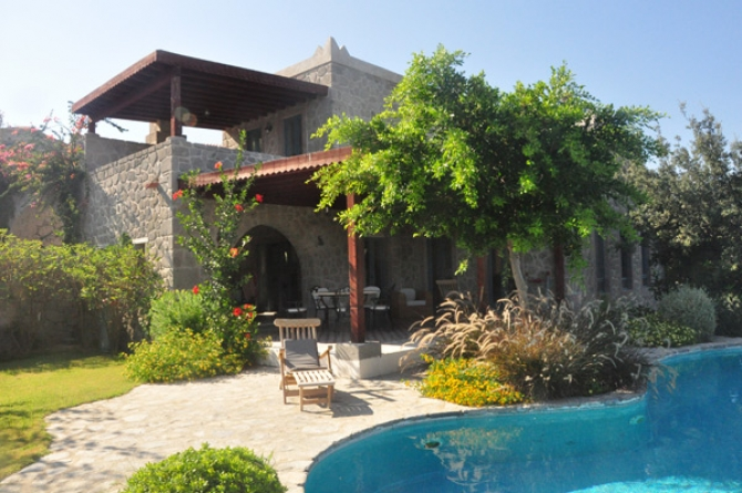 Veritable Mansion Truly Grand Stone Villa in Ortakent