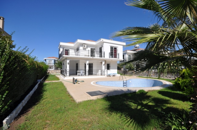 Detached Fully Furnished Three Bedroom Villa in Ovacik