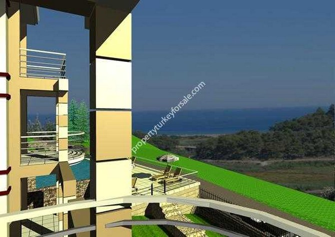 Duplex apartments in Sarigerme offer unobstructed sea views