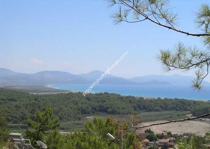 Views over Sarigerme beach and golf course