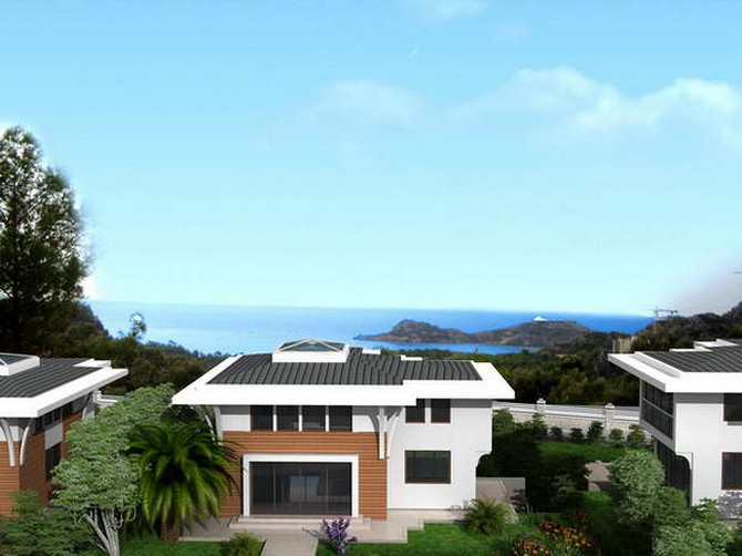 Exclusive Sarigerme Villa with Sea View 3 Bedrooms for sale