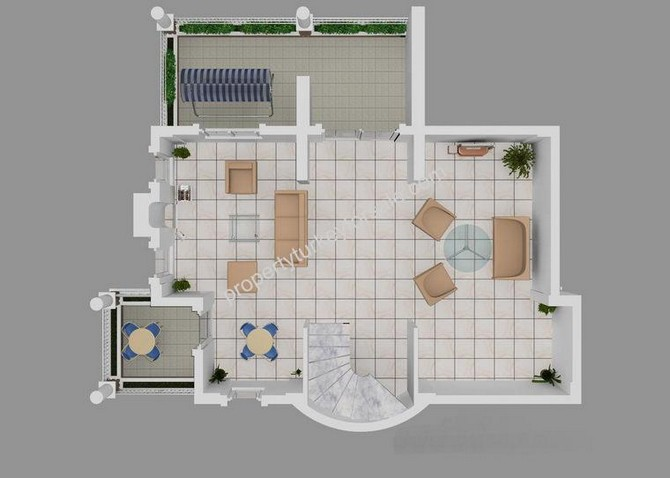 A,B,C1 Villas Basement Floor Plan