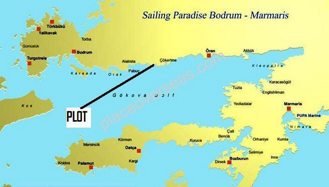 Plot on best sailing route