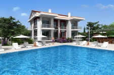 New Modern Apartments on Popular Complex in Calis Fethiye