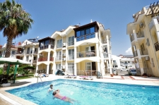 Fully furnished Duplex Apartment With Sea View in Calis
