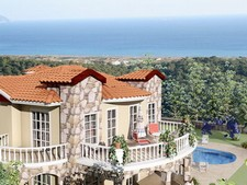 Sarigerme Villa with Pool and Sea View 4 Bedrooms