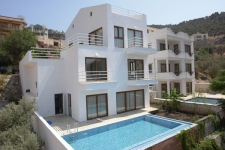 Furnished apartment in Kalkan with its own swimming pool