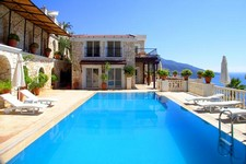 Idyllic Kalkan Villa Seafront 4 Bedrooms for sale