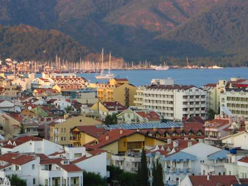 Marmaris town centre, one of Turkey's most popular tourist d