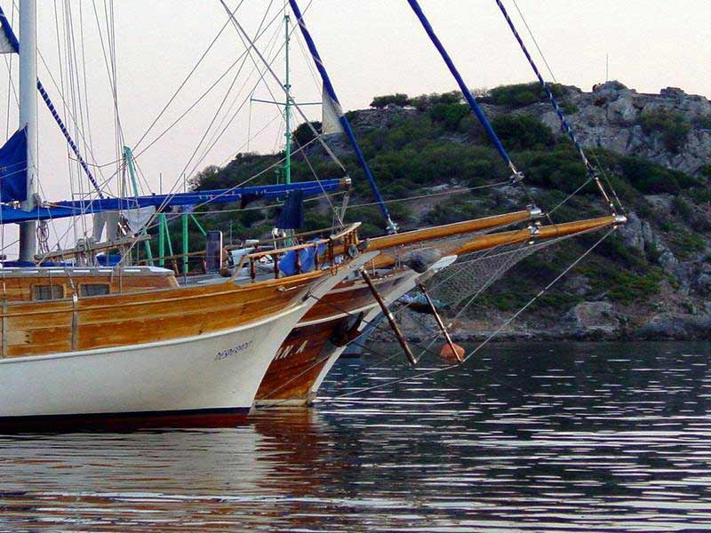 Yachts in Gumusluk