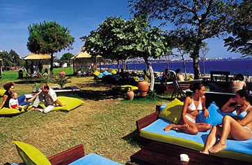 Relax by the water at Antalya Beach Park.