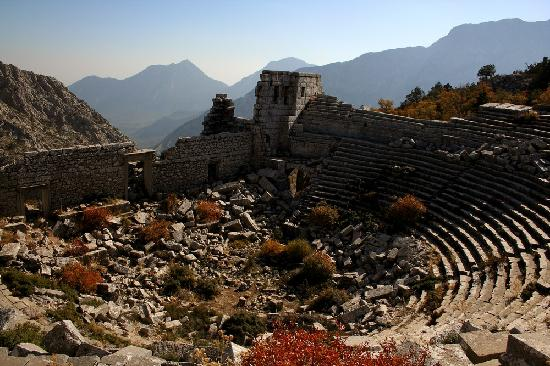 Termessos' theatre was built in Roman times.