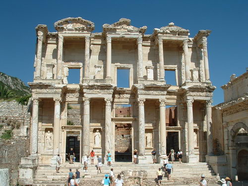 The grand library at Ephesus.