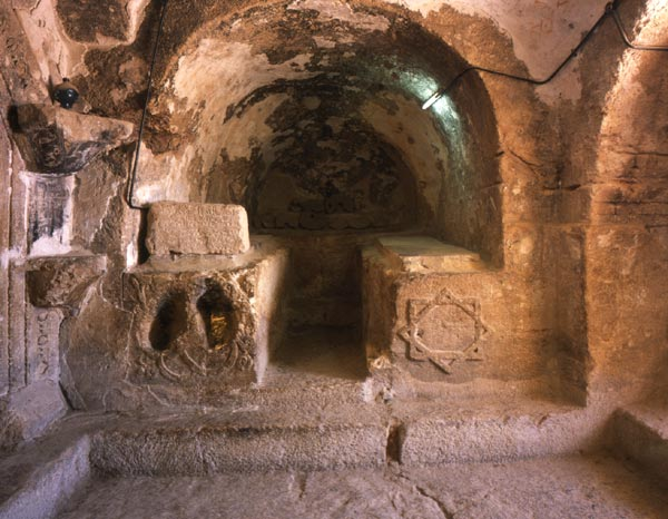 The grotto has inscriptions to the Seven Sleepers on its wal