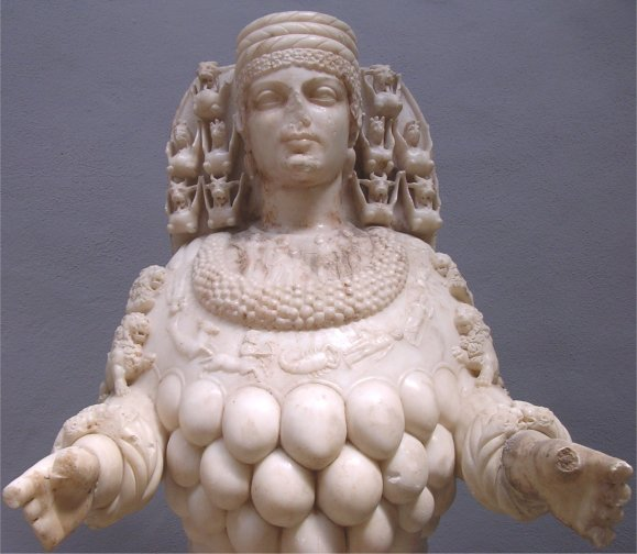 This rather odd statue of Artemis can be found at the Ephesu