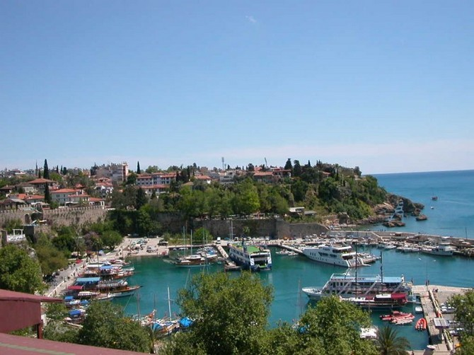 Old Town Antalya - location
