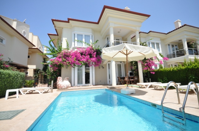 Beachfront Villa with Private Pool on Calis Beach