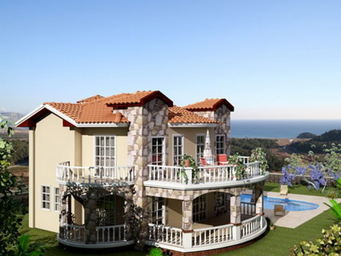 Exteriof of Villa with sea view