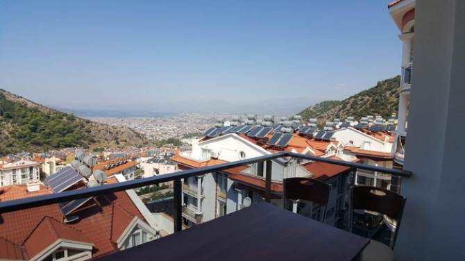 Three Bedroom Sea View Apartment For Sale in Fethiye