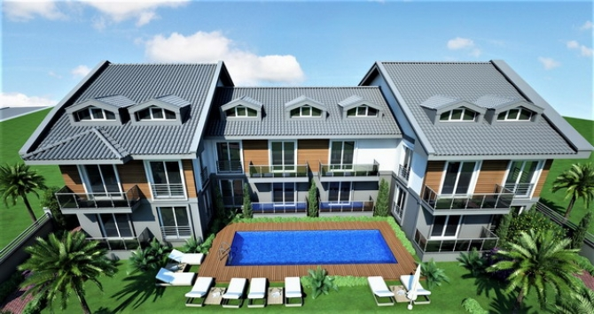 3 Bedroom Duplex Apartment with Large Swimming Pool For Sale
