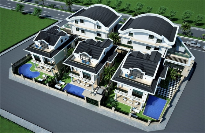 4 Bedroom Detached Smart Villas with Private Pool For Sale
