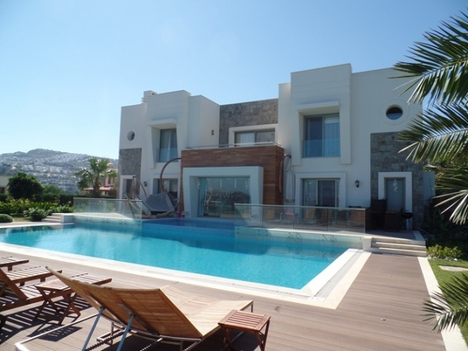 Sunset Villa in Gumusluk with ample privacy