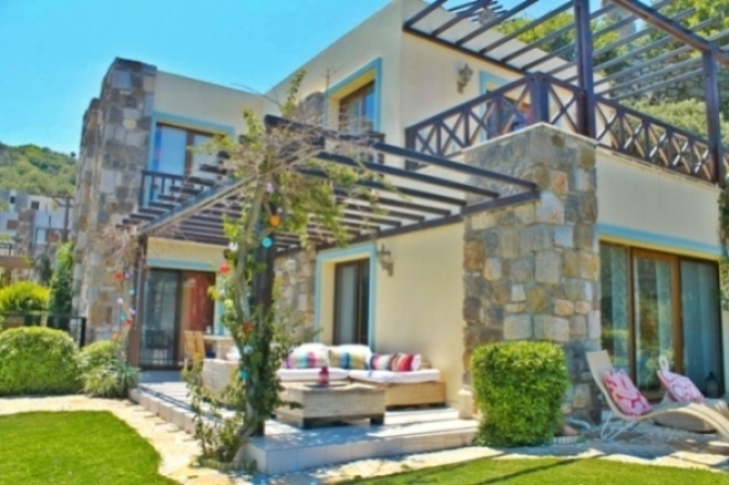 Three Bedroom Quality Villa Great Sea View in Gumusluk Bodrum