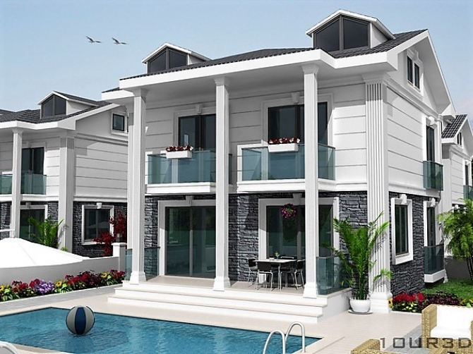 4 Bedroom Off Plan Detached Villas with Pool and Garden