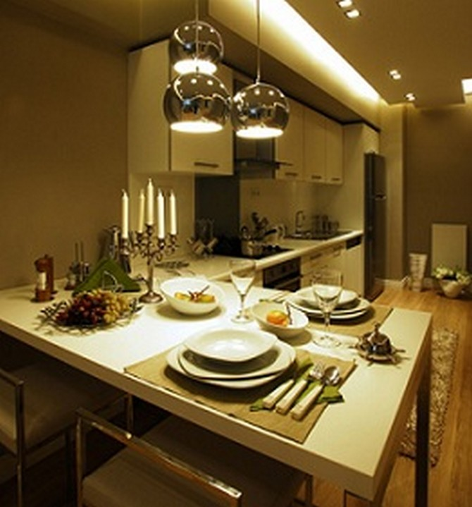 Open Plan Kitchen with Dining And Living Room
