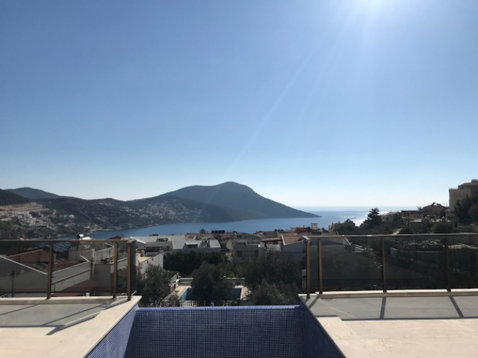 Two Bedroom Kalkan Apartment with Private Infinity Pool