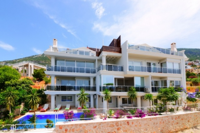 Charming Apartment in Kalkan With Sea View