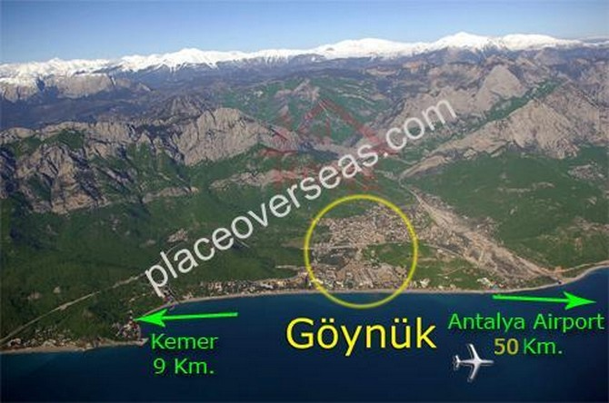 Goynuk is only short drive from Antalya airport