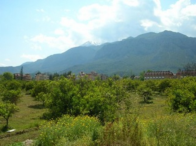 Kemer Land for sale in Prestigious Villa Area with Mountain View