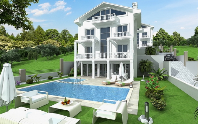 4 Bedroom Detached Villa with Mountain and Sea View