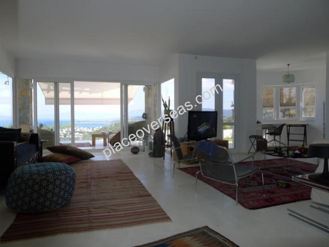 Spacious living room with unobstructed views