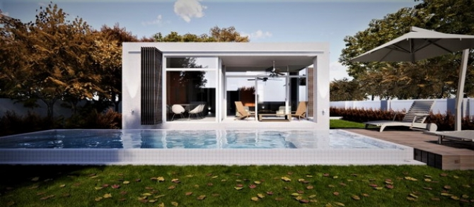 Off Plan Modern Style Bungalows with Private Pool and Garden